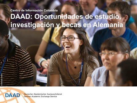 Charla informativa sobre oportunidades de estudios, investigación y becas en Alemania