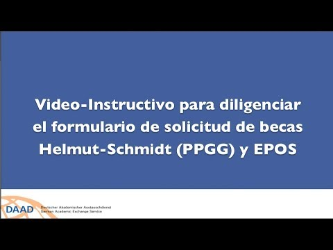 Instructivo en video formulario solicitud becas Helmut Schmidt y EPOS