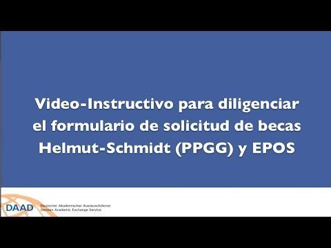 Instructivo en video formulario solicitud becas Helmut Schmidt y EPOS