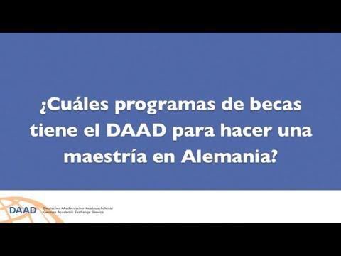 ¿Cuáles programas de becas tiene el DAAD para hacer una maestría en Alemania?